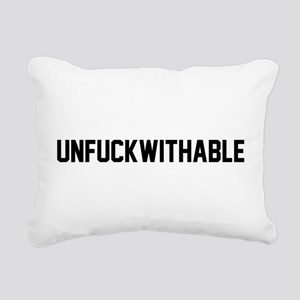 UNFUCKWITHABLE Rectangular Canvas Pillow