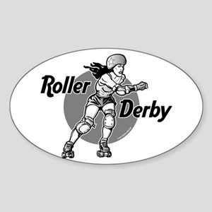 Roller Derby @ eShirtLabs.Com Oval Sticker