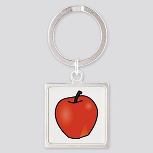 Apple Square Keychain Keychains
