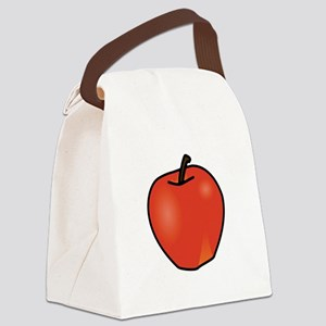 Apple Canvas Lunch Bag