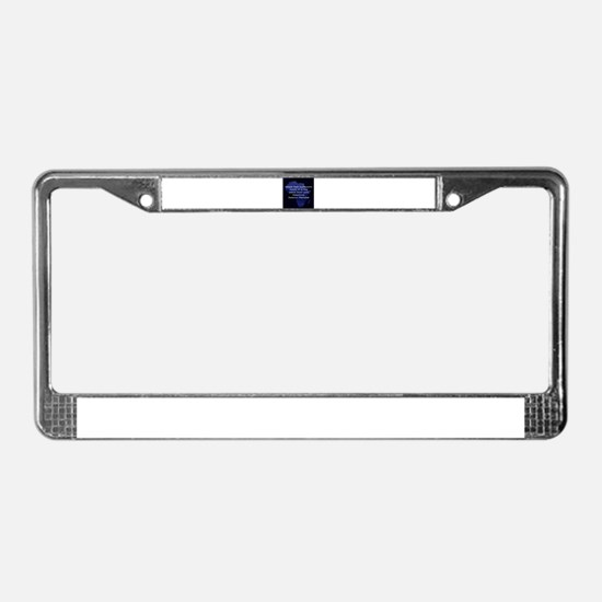 When Two Elephant Fight License Plate Frame