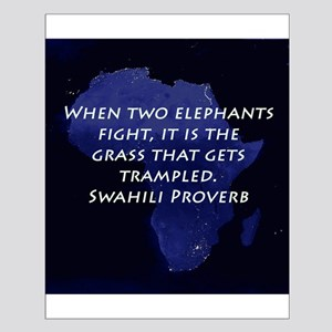 When Two Elephant Fight Posters