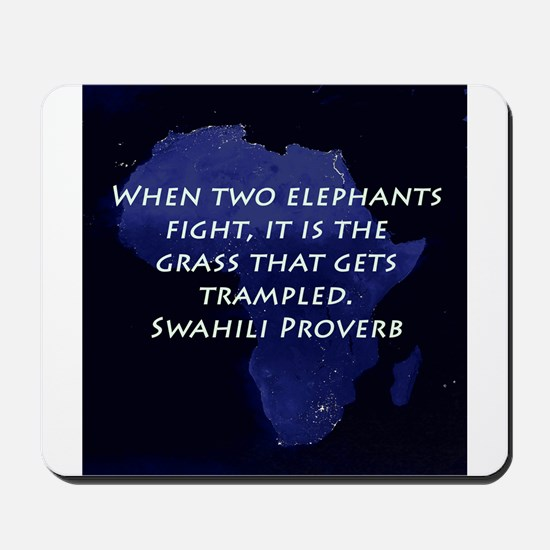 When Two Elephant Fight Mousepad