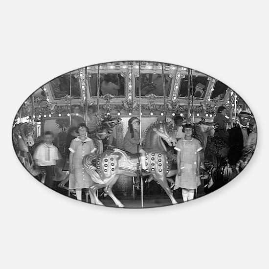 Funny Vintage carnival Sticker (Oval)