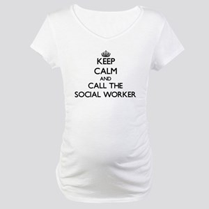 Keep calm and call the Social Worker Maternity T-S