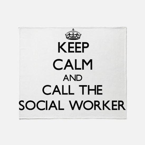 Cute Social work Throw Blanket