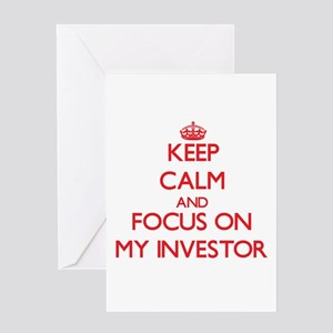 Keep Calm and focus on My Investor Greeting Cards