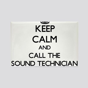 Keep calm and call the Sound Technician Magnets