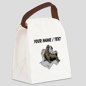 Custom Elephant Seal Canvas Lunch Bag