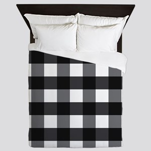 Gingham Check black white Queen Duvet