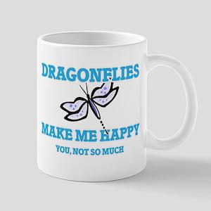 Dragonflies Make Me Happy Mugs