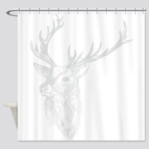 Trophy Deer Shadow Shower Curtain