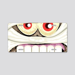 Mummy Face Aluminum License Plate