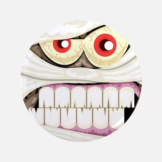 "Mummy Face 3.5"" Button (100 pack)"