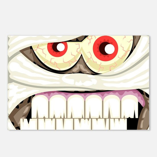 Mummy Face Postcards (Package of 8)