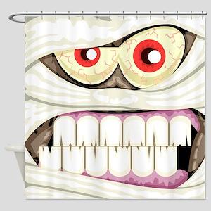 Mummy Face Shower Curtain