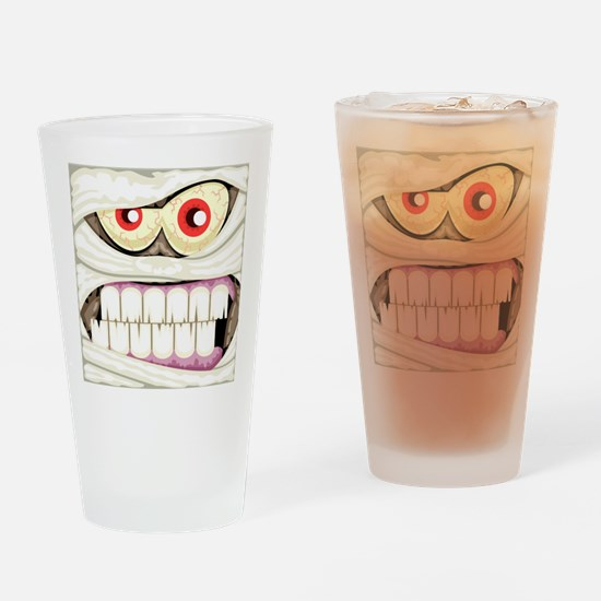 Mummy Face Drinking Glass