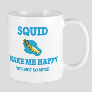 Squid Make Me Happy Mugs