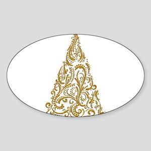 Ornate Golden Metallic Filigree Christmas Tree Sti