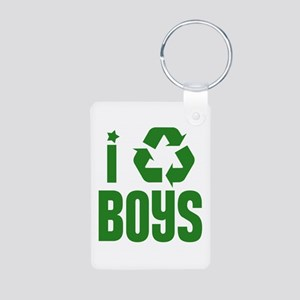 I RECYCLE Boys Aluminum Photo Keychain