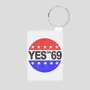 YES on 69 Aluminum Photo Keychain
