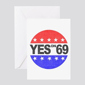 YES on 69 Greeting Card