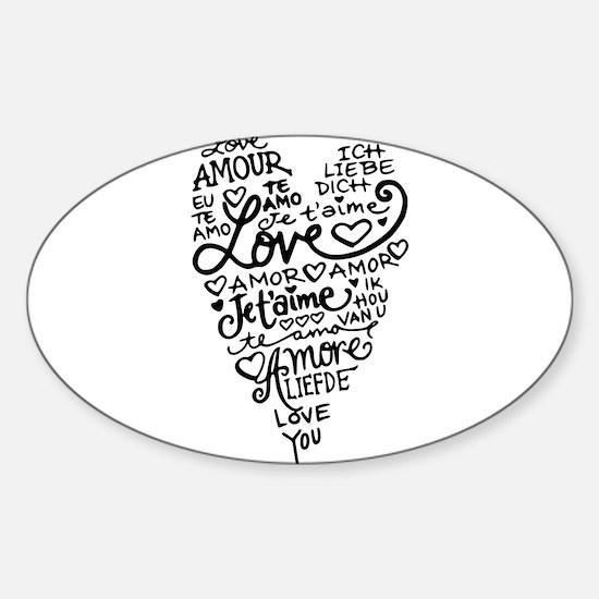 Funny Te amo Sticker (Oval)