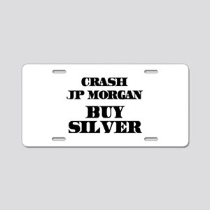 Crash JP MORGAN Buy Silver Aluminum License Plate