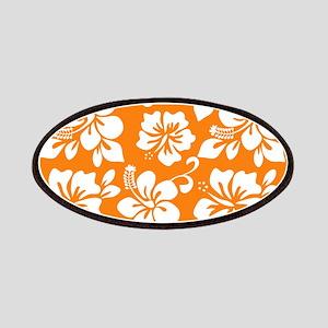 Orange Hawaiian Hibiscus Patches