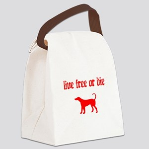 Live Free Canvas Lunch Bag