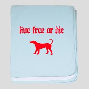 Live Free baby blanket