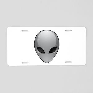 UFO Alien Aluminum License Plate