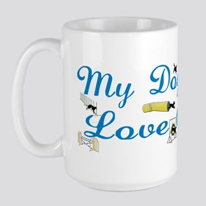I Love Agility Large Mug