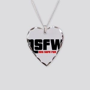 NSFW - Not Safe For Work Necklace Heart Charm