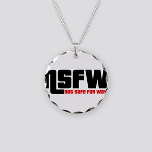 NSFW - Not Safe For Work Necklace Circle Charm