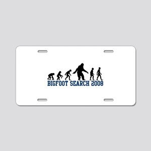 Bigfoot Search 2008 Aluminum License Plate