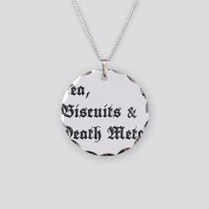Death Metal Necklace Circle Charm