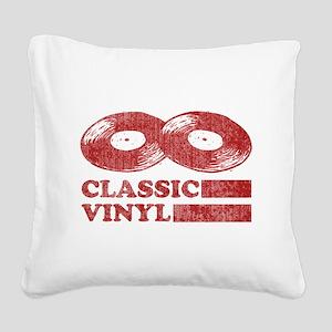 Classic Vinyl Square Canvas Pillow