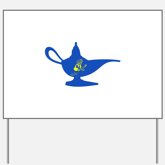 Genie Lamp Yard Sign