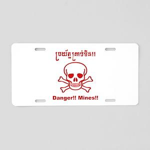 danger-mines1 Aluminum License Plate