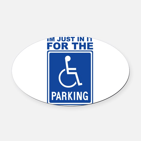 parking1.png Oval Car Magnet