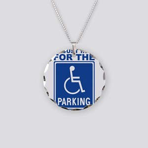 parking1 Necklace Circle Charm