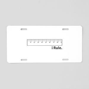 i Rule Aluminum License Plate