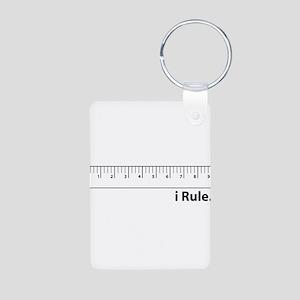 i Rule Aluminum Photo Keychain