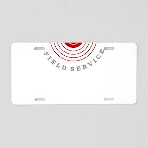 islam-cross-w2 Aluminum License Plate