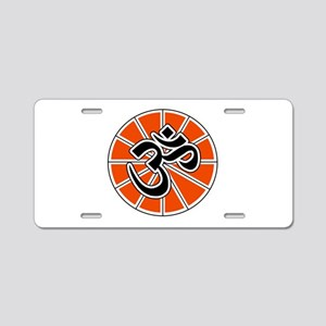 aum-white Aluminum License Plate