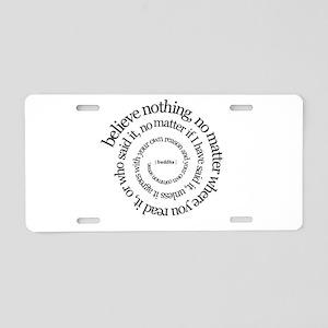 buddha-w Aluminum License Plate