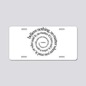 buddha-w.png Aluminum License Plate
