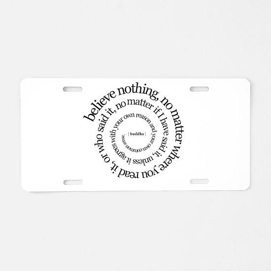 buddha-w.png Aluminum License Plate