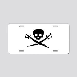 skull2-w Aluminum License Plate